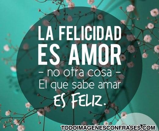 Imagenes Con Frases Sobre Felicidad Y Amor