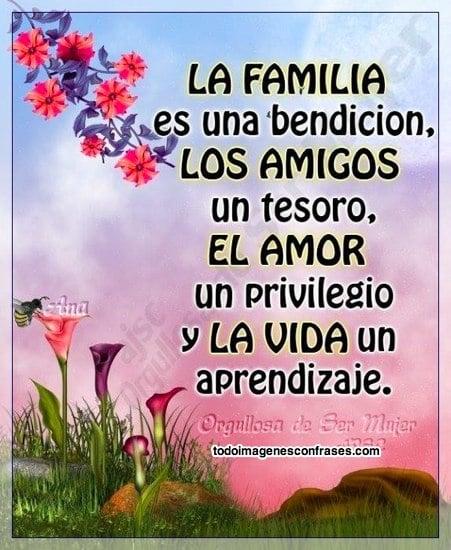 Imagenes Con Frases Lindas Sobre La Familia El Amor La Amistad Y