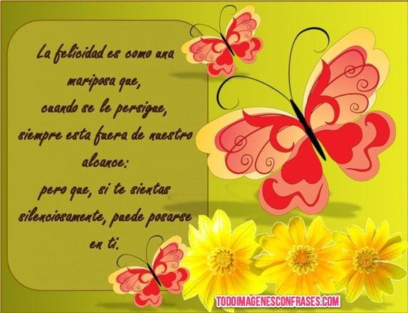 Imagenes Con Frases La Felicidad Es Como Una Mariposa