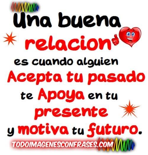 Imagenes Con Frases De Amor Una Buena Relacion Es