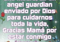 Imágenes con frases: Una madre es un ángel guardian