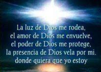 Imágenes con frases cristianas: Dios es mi luz, dios está conmigo