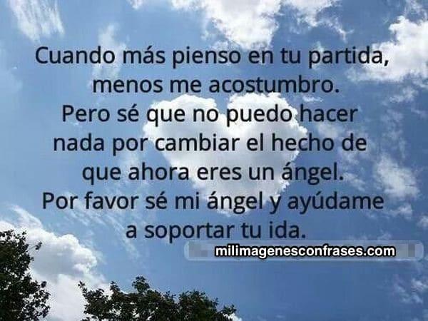 Imágenes con frases para un ángel en el cielo