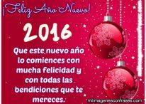 Imágenes de Feliz Año Nuevo 2016 con frases de bendiciones